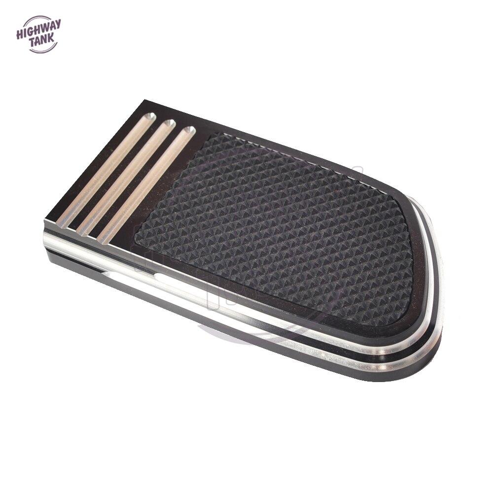Black Edge Cut Motorcycle Brake Pad Pedal Case For Harley Davidson Dyna Street Fat Bob Low Rider 1993-2017