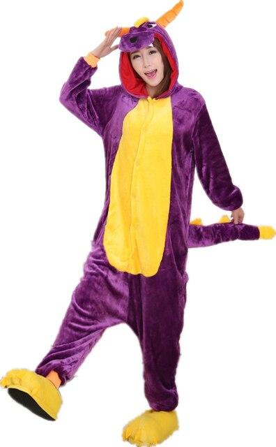 8035c14e2 Anime Costume Shiryu Spyro Purple Dragon Cartoon Animal Onesies ...