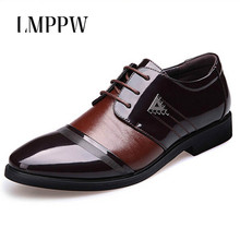 Luxury Fashion Men's Dress Leather Shoes Plus Size Men Oxford Shoes New 2019 Lace Up Men Flats Leather Casual Shoes Black Brown