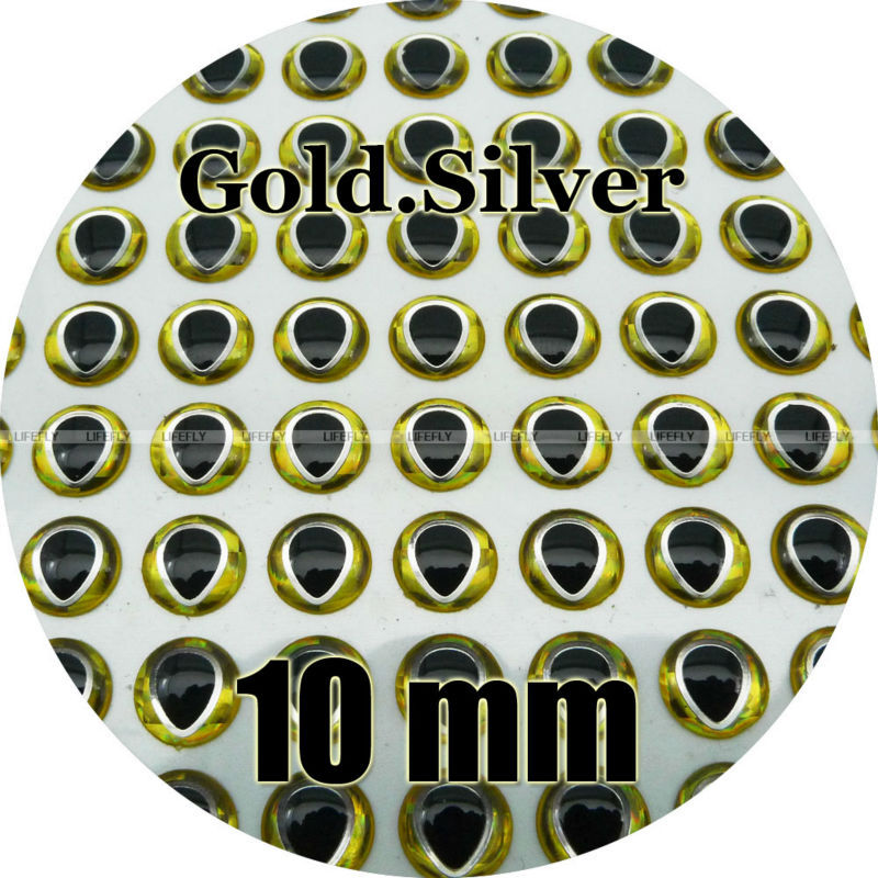 Wholesale 1100 Soft Molded 3D Holographic Fish Eyes Fly Jig Lure 6mm 3D Red