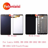 5Pcs For Nokia Microsoft Lumia 640XL RM 1096 RM 1062 RM 1063 Lcd Display With Touch