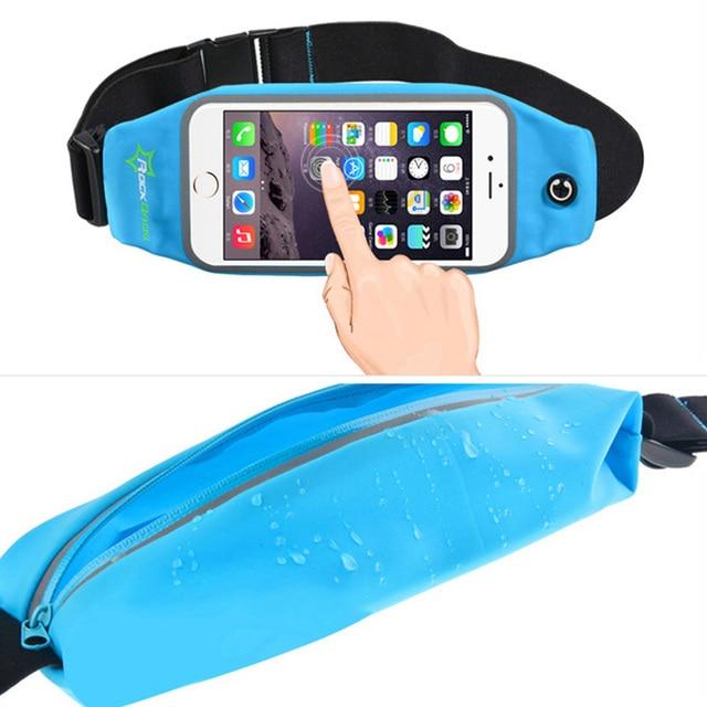 ROCKBROS Waterproof Running Bag Waist Bag Sport Belt Bags 5.8-6 Inch Phone Pouch Case Bags For IPhone 6 7 Plus Sport Accessories 3