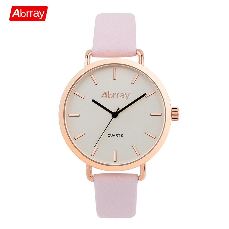 Abrray Fashion Dameshorloge Luxe Merk Lederen Band Horloge - Dameshorloges