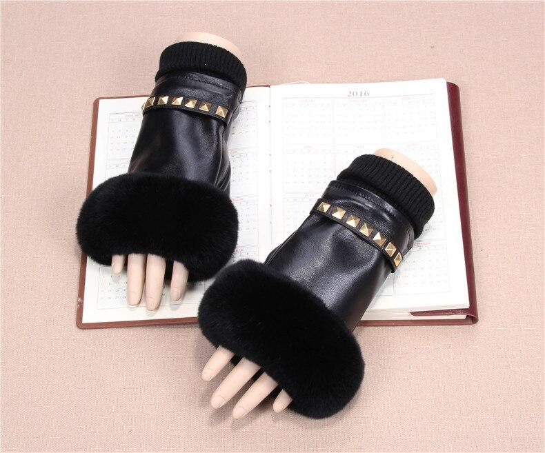 Gants sans doigts d'automne et d'hiver pour femmes