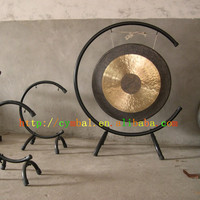 Traditional Chinese 14\'\' Chau Gong With Gong Stand
