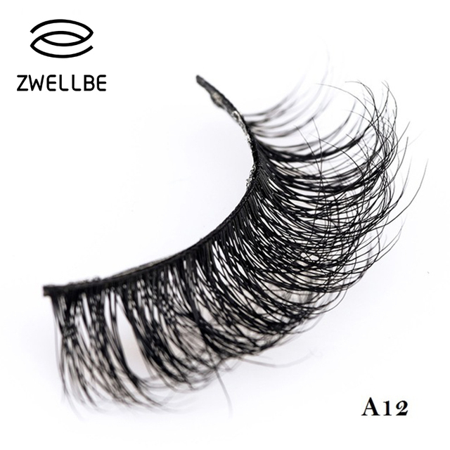 f762a3ea015 zwellbe 3D Mink Lashes Mink Eyelashes Natural False Eyelashes 1 Pair  Handmade Fake Eye Lashes Extension For Beauty Makeup