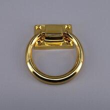3083b375e3bd 4 piezas de oro anillo de aleación de Zinc de la puerta de madera tira silla  manija del gabinete del cajón perillas cómoda de Ha.