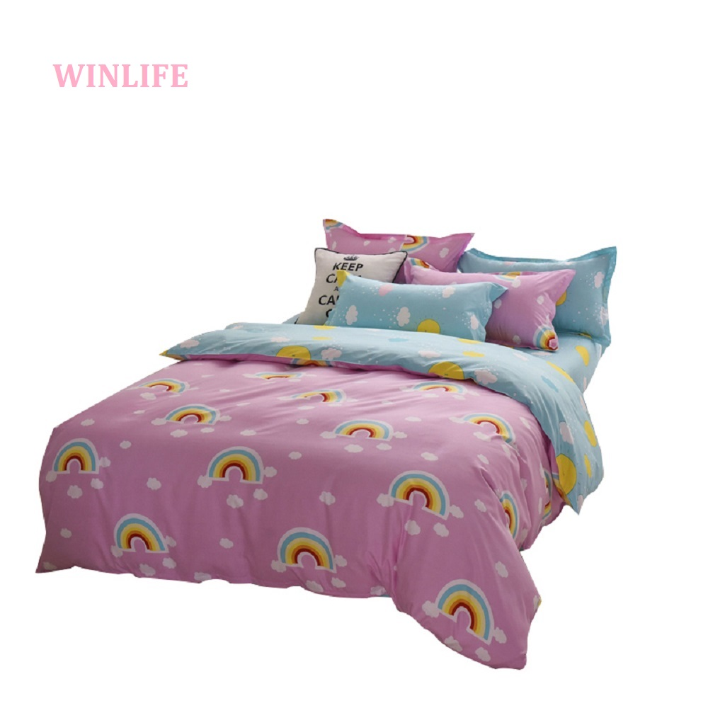 rainbow reversible duvet cover cloud bedding rainbow bedroom set
