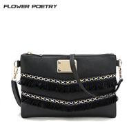 Flower Poetry Women Messenger Bags Design Handbag Female Evening Day Tassel Vintage Small Crossbody Shoulder Bag