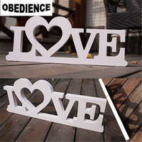 OBEDIENCE 40*15cm Stereoscopic Letters LOVE Shooting Props Dimensional Just Married Wedding Decorations Supplies
