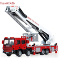 New Arrival 1/50 Alloy Model Toy Aerial Rescue Fire Truck Taxied Baby educational Kids toys brinquedo