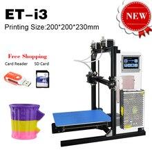 Горячие Продажи в Воссоединении DIY 3D Принтер ET-I3 Топ-Версия двойной Экструдер Prusa Двойной Цветной Печати с Высоким Разрешением 3D Сенсорный экран