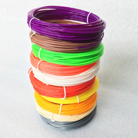 10 Colors 3D Filament ABS PLA 1.75mm 3D Printer Filament Materials 10M/color ,total 100M For 3D Printing 3D Printing Materials