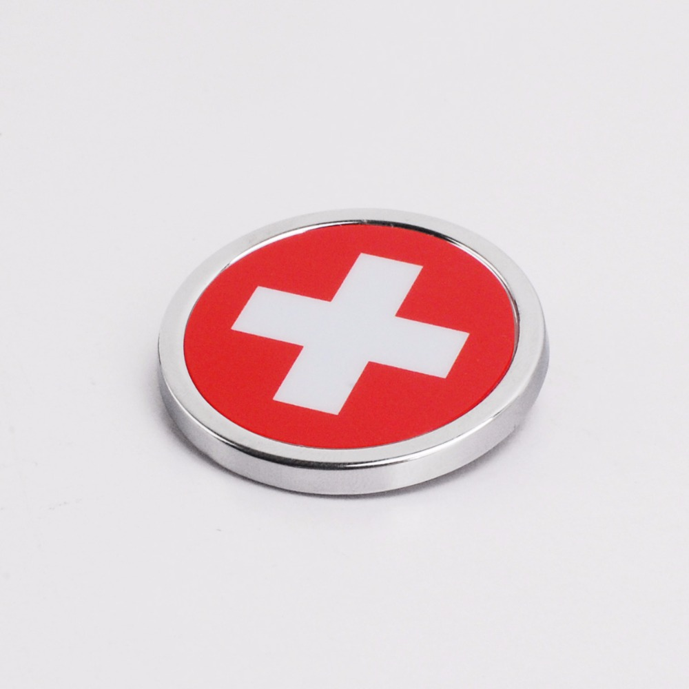 Hot Sale Car Exterior Accessories Switzerland Flag Sticker Metal