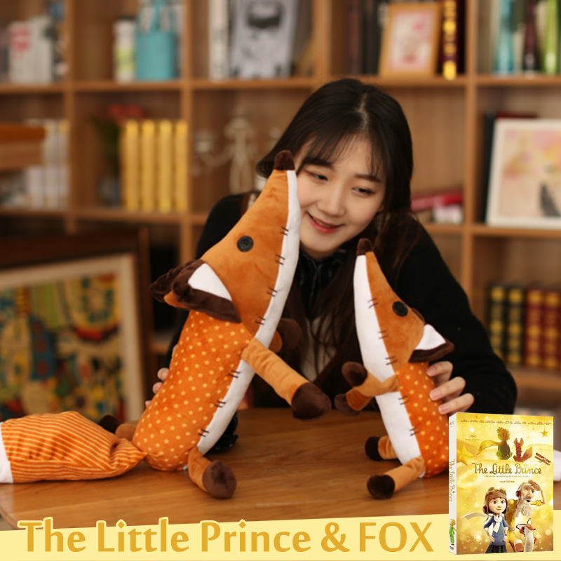 The Little Prince Fox Plush Dolls le Petit Prince stuffed animal plush education toys for baby kids Birthday/Xmas Gift 40/60cm 40cm new lovely mickey mouse and minnie mouse plush toys stuffed cartoon figure dolls kids christmas birthday gift