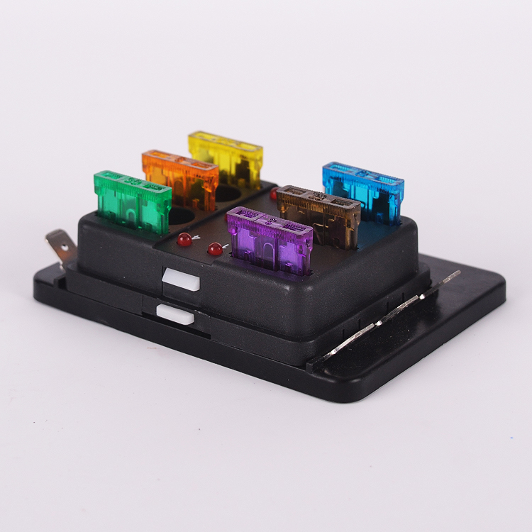 6 Way Universal Car Truck Automotive ATO Blade Fuse Box Holder LED Blown Warning Car Boat holder coffee picture more detailed picture about 6 way Blown Fuse in Breaker Box at aneh.co