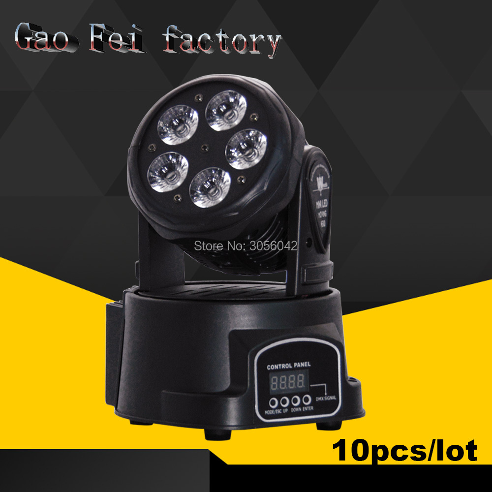New Designed 10pcs/lot 5*15W RGBWA+UV 6in1 Color Mixing LED Moving Head Wash DMX Led Moving Head 10/15 Ch 10pcs lot cheap stage light 36 15w 5 in 1 led zoom moving head wash light rgbwy color mixing dmx512 lighting control