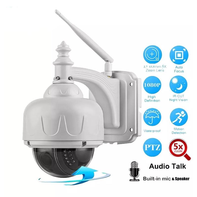 2.0MP 1080P Outdoor Waterdichte PTZ Camera 5X Optische Zoom IP Camera Two Way Audio Wifi Bewakingscamera Remote mobiele APP - 2