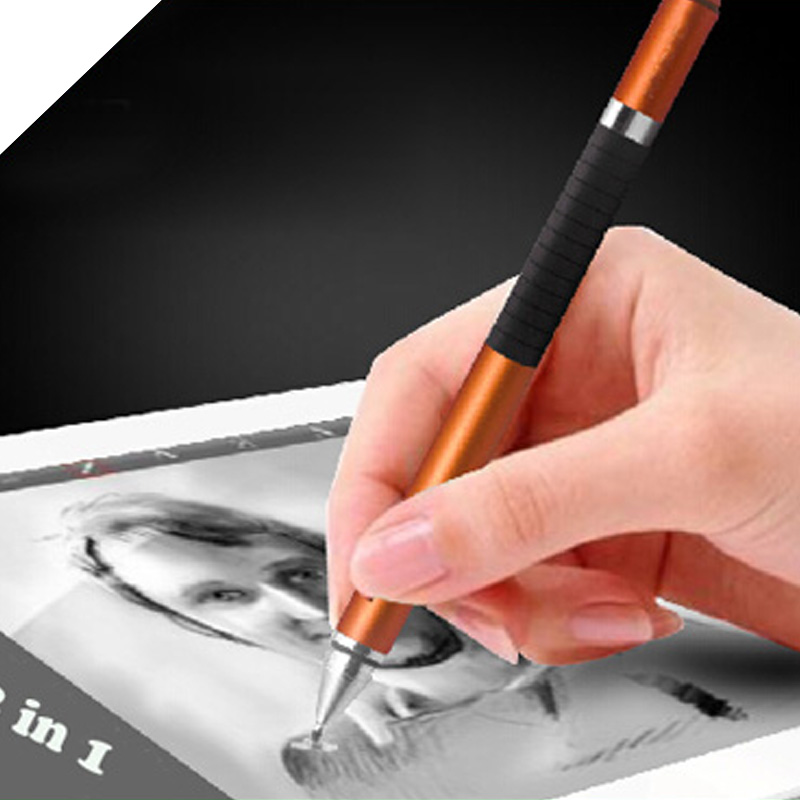 2 in1 Pro Fine Point Universal Stylus Pen for iPad for iphone Nexus 7 Galaxy Tablets Kindle Fire HDX and any other Android phone