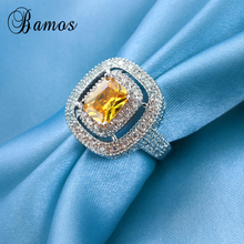 Bamos Male Female Champagne Ring 925 Silver Filled Vintage W