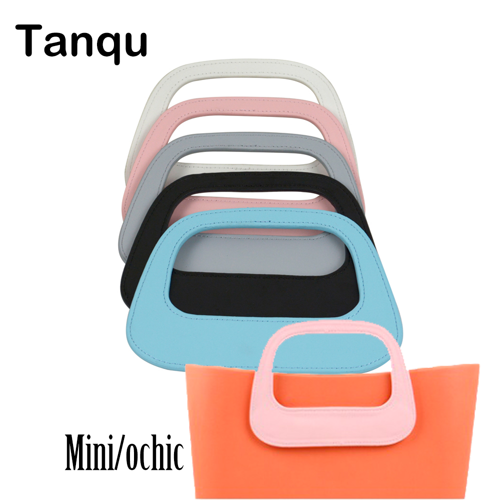 TANQU New Colorful Oblong Faux PU Leather Handle for Mini OBAG O CHIC Bag Body Oblong handle for o bag Mini Ochic Accessory new colorful cartoon floral insert lining for o chic ochic canvas waterproof inner pocket for obag women handbag