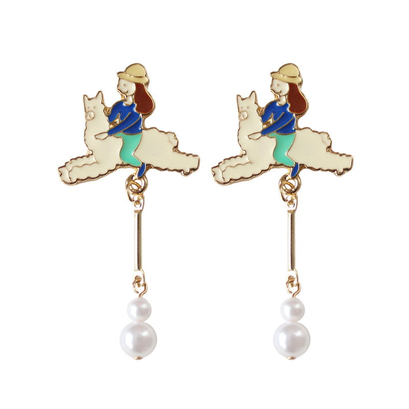 top 10 largest alpaca earrings list and get free shipping