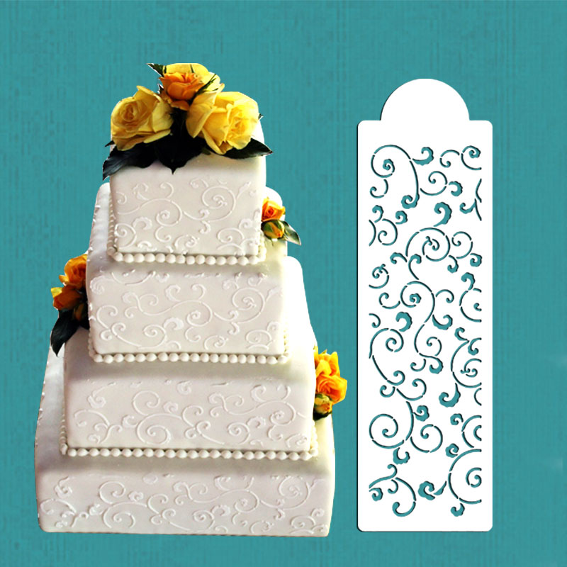 Stencil Decoration For Cakes