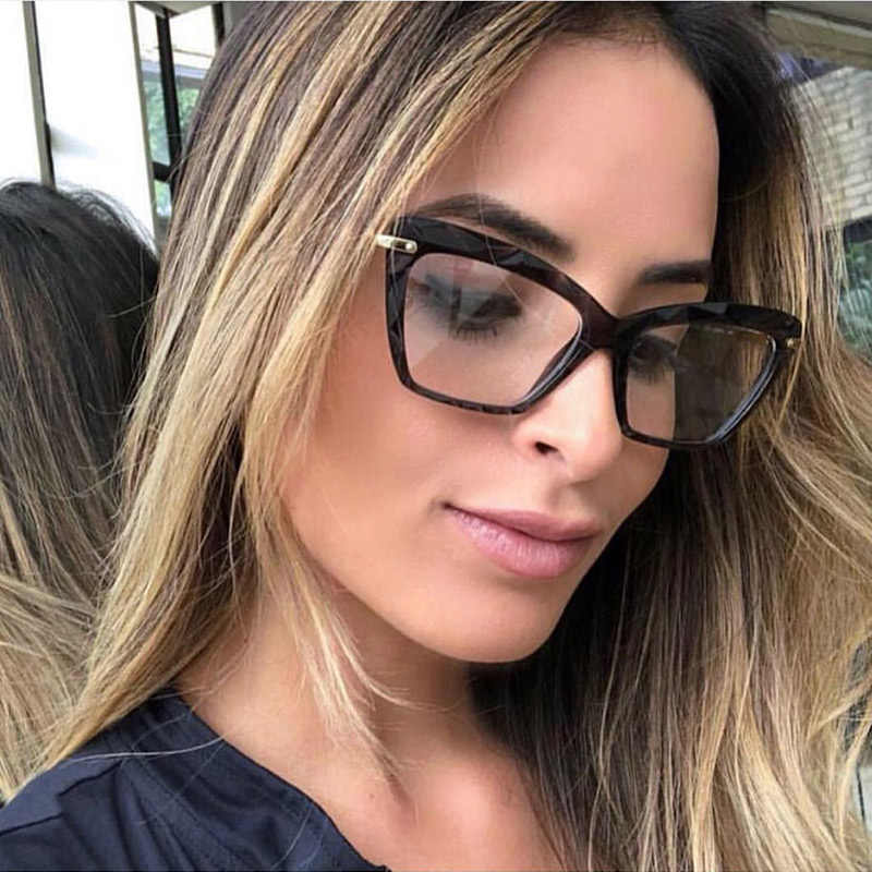 694377b0a336 Women Metal Legs Brand Designer Eyeglasses Optical Acetate Rim Spectacles  for Women Eyewear Glasses Frame Fashion