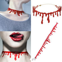 Bloodiness Knifing Neck Necklace Dress Party Deathrock Torque Charm Halloween Choker Chic Stitch Punk Blood For Special Effects(China)