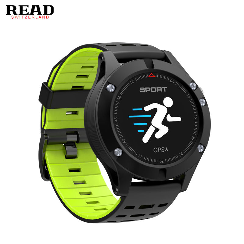 READ NO.1 F5 GPS Smart Watch MTK2503 Altimeter Barometer Thermometer Bluetooth 4.2 Smartwatch Wearable Devices for IOS Android цена