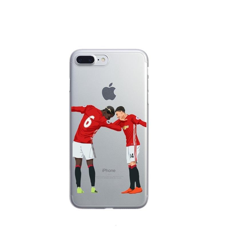 Football Case Pogba karim Benzema Cristiano Ronaldo Messi phone case for iphone 7 7 plus 6
