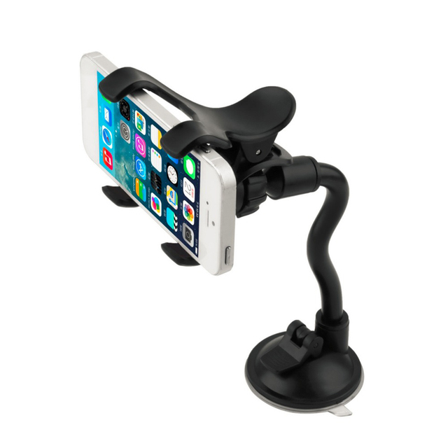 Universal 360 Rotating Windshield Car Sucker Phone Holder Automobiles & Motorcycles Unisex color: Black