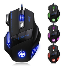 7200 DPI Wired Gaming Mouse 7 Button  LED Optical USB Computer Mouse Gamer Mice Game Mouse  For PC laptop цена в Москве и Питере