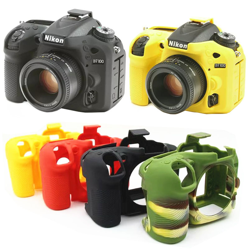Soft Silicone Rubber Camera Protective Body Cover Case Skin For Nikon D750 D5500 D5600 D7200 D7100 Camera Bag