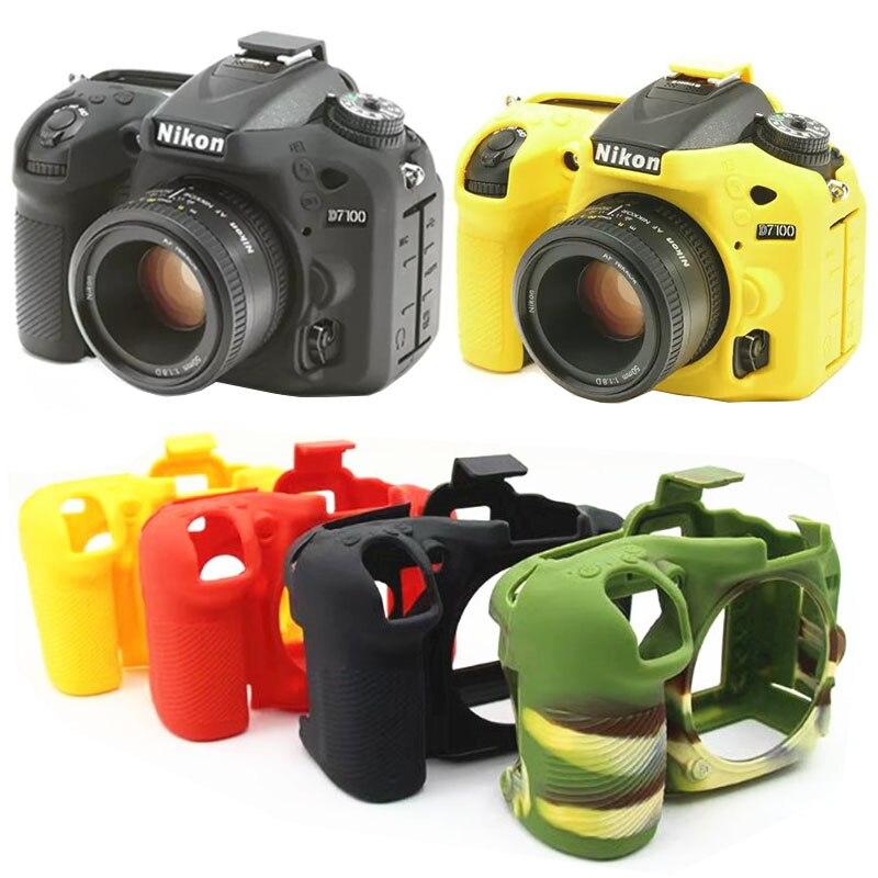 Souple En Silicone En Caoutchouc Caméra De Protection Corps Peau de Cas de Couverture Pour Nikon D750 D5500 D5600 D7200 D7100 Caméra Sac