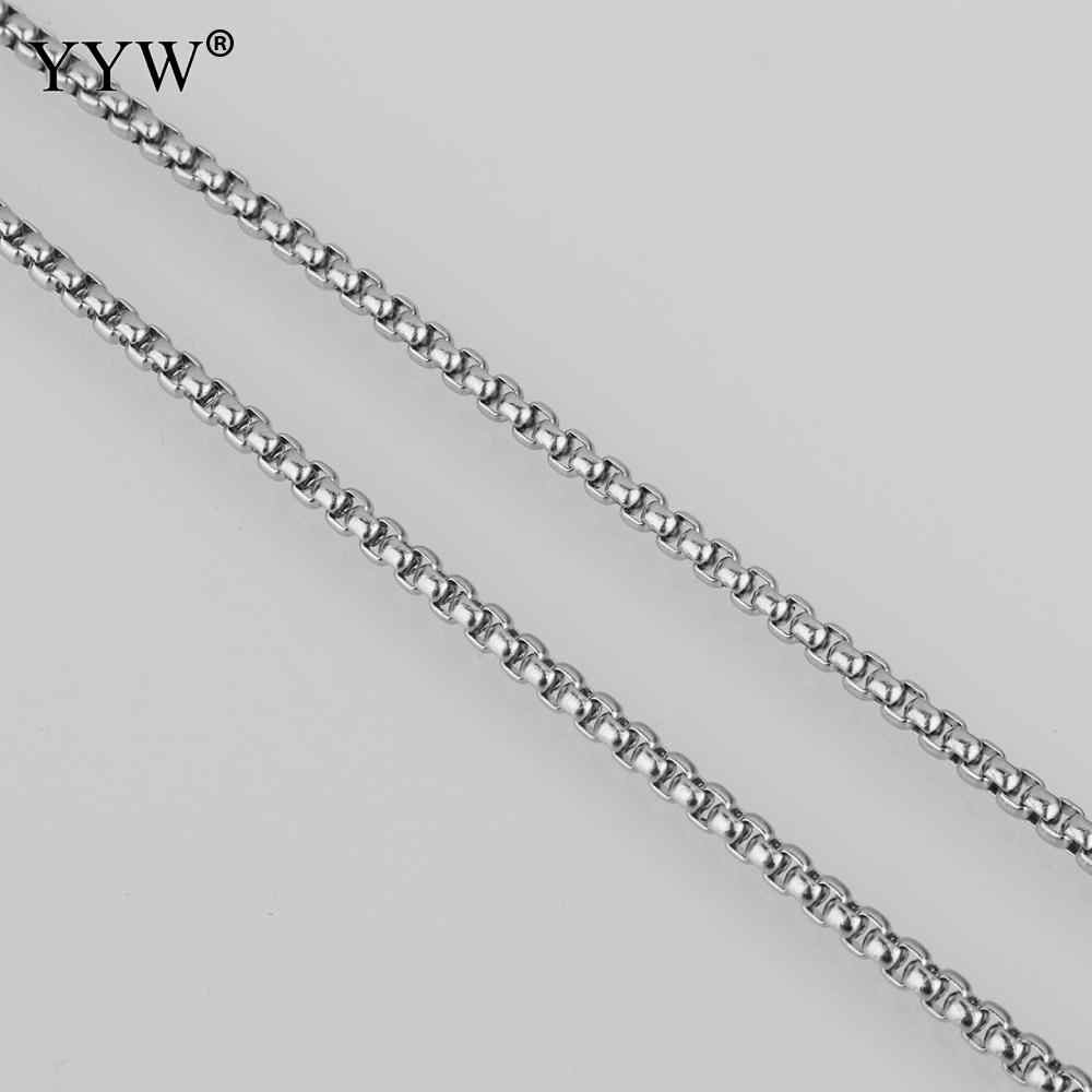 Stainless Steel Box Chain Necklace For Men Women 2/2.5/3/3.5/4mm Link Chains Diy Jewelry Findings Making Accessories Wholesale