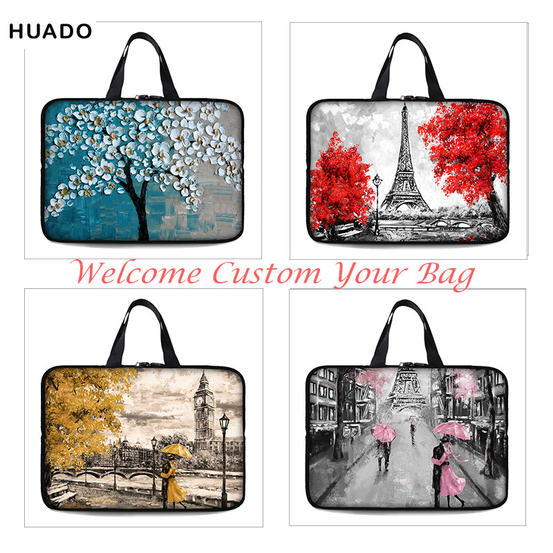 Neoprene Laptop sleeve 11 12 13 14 15 15.6 Oli printing Women Notebook Bag Case 14 Laptop Sleeve for MacBook Air 13 Case/xiaomi