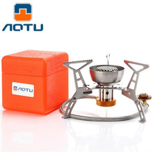 AOTU Camping Gas Stoves In Box Ortable Foldable Split Furnace Butane 3200W Big Power Windproof Gas Stove Outdoor Gas