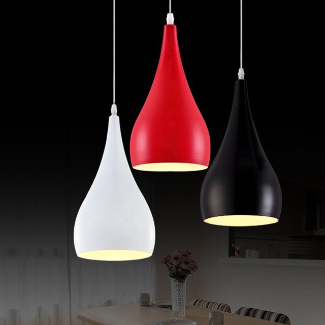 Fashion personality single-head bar counter pendant light aluminum light dining room lamp E27 candle light 85-265V