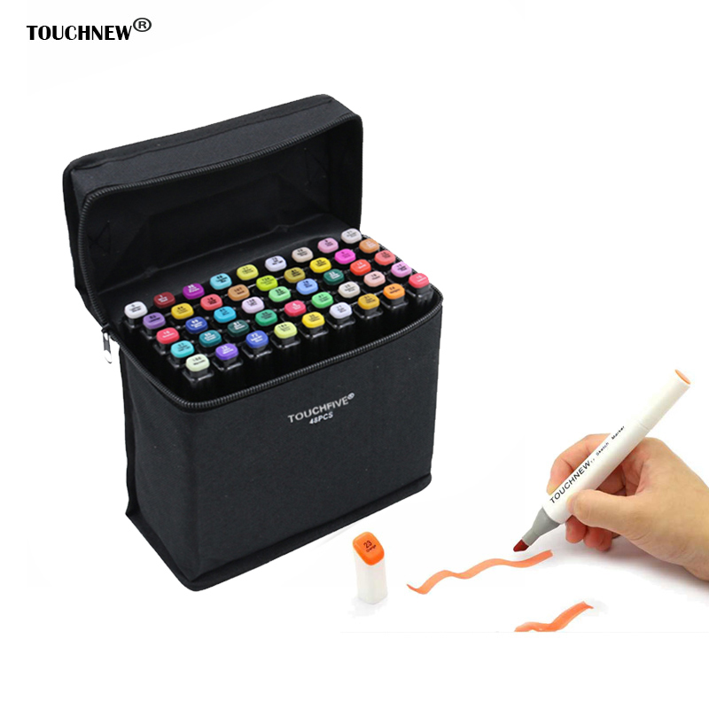 TOUCHNEW Art Markers 30/40/60/80Colors Artist Dual Headed Marker Set Manga Design School Drawing Sketch Markers Pen Art Supplies touchnew 80 colors artist dual headed marker set animation manga design school drawing sketch marker pen black body