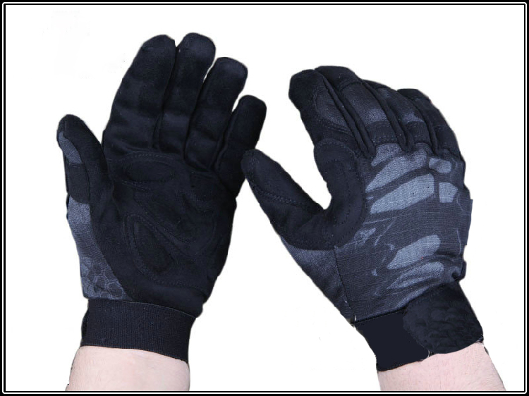 Tactical Camo trainning gloves full finger Tyhone hunting gloves Mandrake Highlander