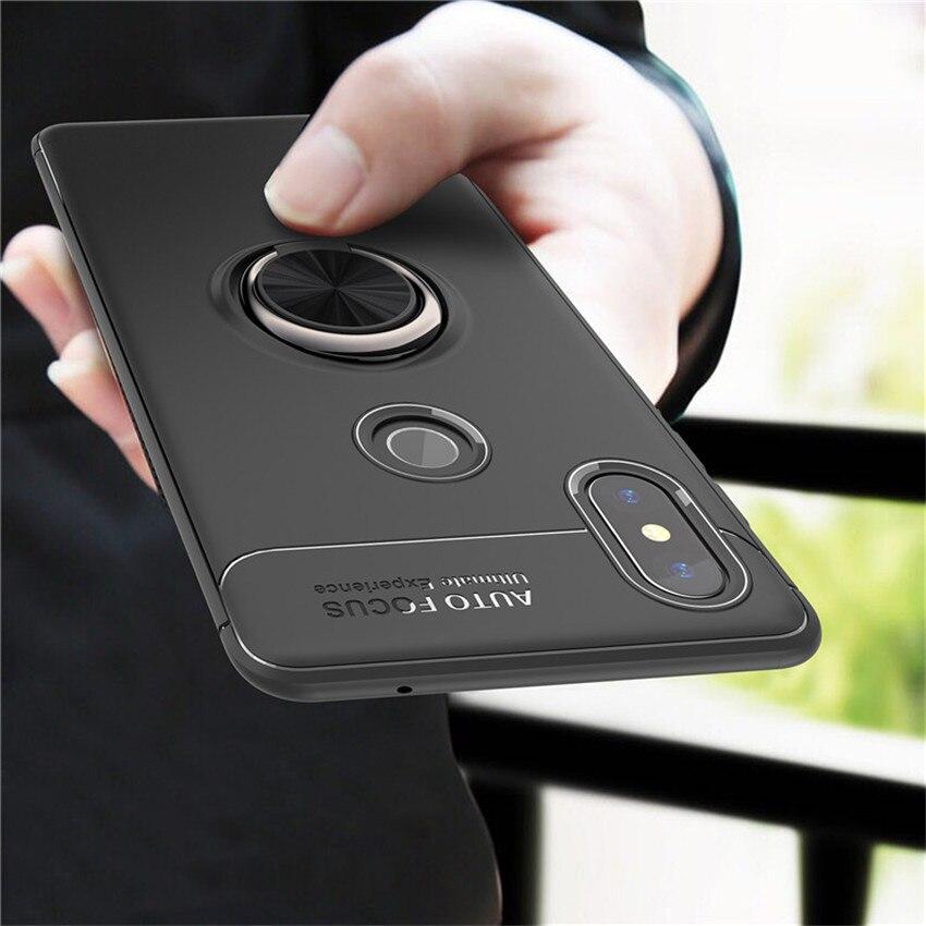 Case For Xiaomi mi a2 lite Car Magnetic Holder Finger Ring Back Cover Case For xiaomi mi a2 lite Xiomi redmi 6 pro Coque