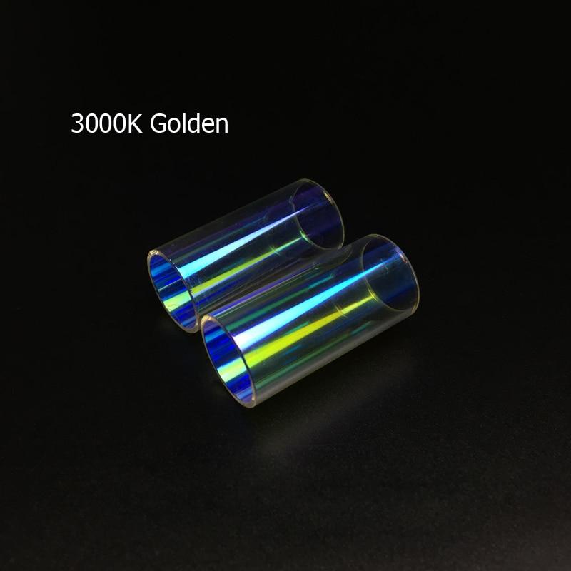 Zdatt 1Pair LED Bulb Color Temperature Tube 3000K 8000K For Headlight Fog Light Replacement Or DIY Combine Light's Color