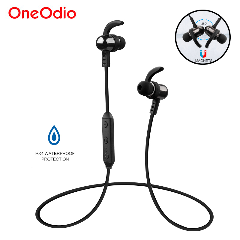 Oneodio Wireless Earphones Stereo Bluetooth 4.1 Earbuds Bass IPX4 Waterproof Handsfree Sport Headset With Mic For Phone Xiaomi skhifio magnetic earphone bluetooth 4 1 wireless earphones sport headset with mic microphone handsfree for smartphone phone