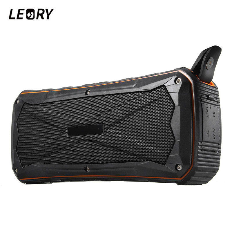 LEORY S610 New Outdoor Bluetooth Speaker 8W Dual Speaker 4500mah Portable Speaker with Mic Waterproof Handfree For Smartphones outdoor grenade shape bluetooth wireless portable handfree speaker with mic for cell phone tablet