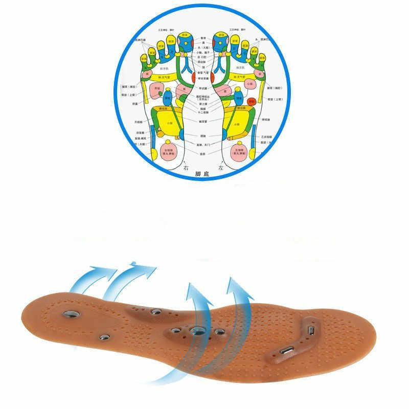 นวดเท้า Magnetic Therapy Thener เท้านวดทำความสะอาดสุขภาพ Slimming การฝังเข็ม Insoles รองเท้าเท้า Care Pad