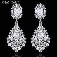 New Arrival Classic Design Gorgeous Crystal White Gold Plated Dangle Earrings Wedding Jewelry For Women Earrings