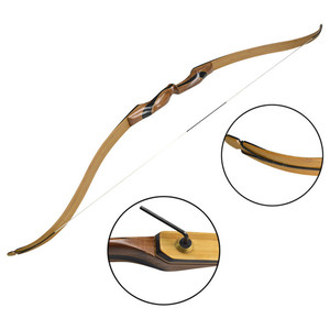 Image 2 - 25 55 ปอนด์ Recurve Bow 58 นิ้ว Longbow การล่าสัตว์อเมริกันโบว์ธนูการแข่งขันยิงอุปกรณ์การฝึกอบรม
