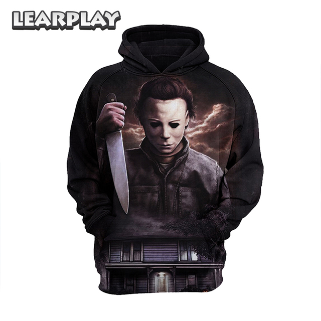 2409ff800ba Horror 2018 Movie Halloween Cosplay Costume Hoodies Michael Myers Winter  Warm Sweatershirts Pullover Hooded Coat Adults Tops