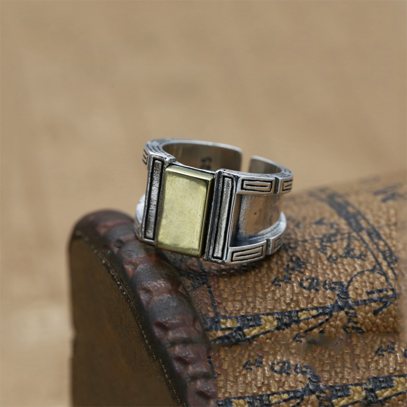 Image 3 - Opening Ring 100% Real 925 Sterling Silver Jewelry For Men Women Creativity Vintage Adjustable Ring  New Arrival FR105-in Rings from Jewelry & Accessories